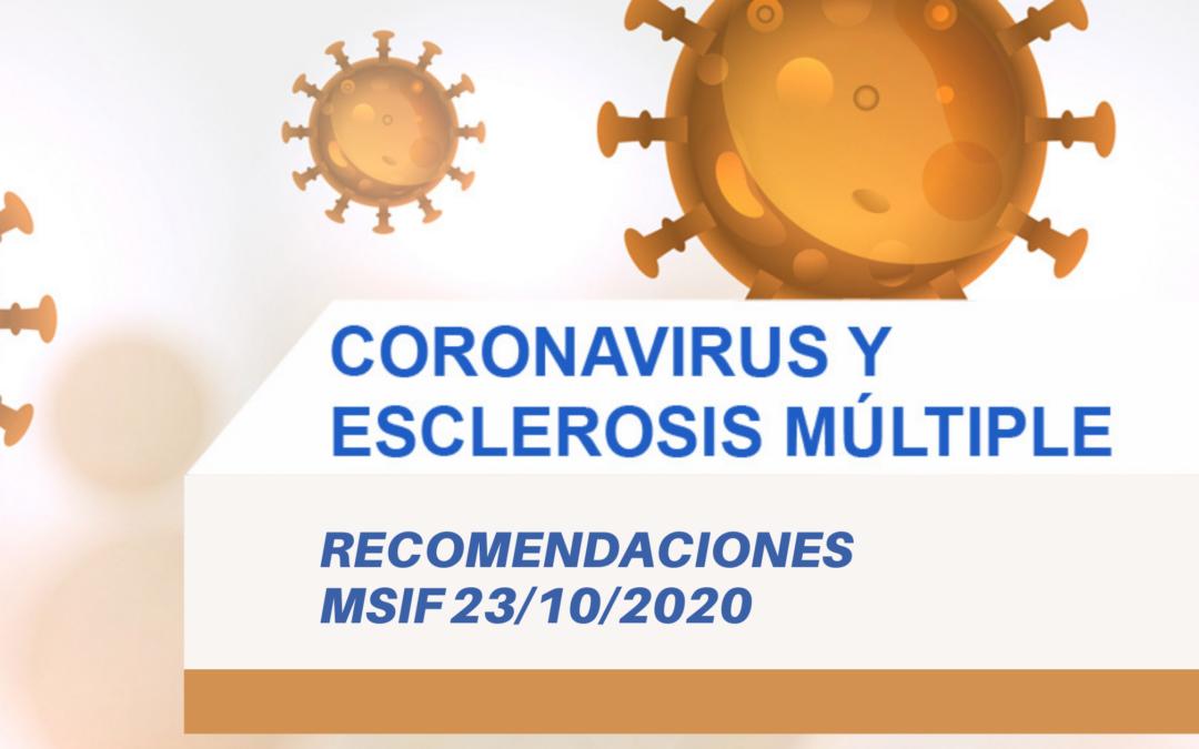 Covid-19 y Esclerosis Múltiple: Últimas recomendaciones MSIF