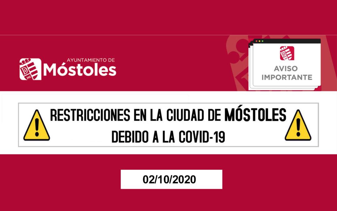 Restricciones de la Ciudad de Móstoles – Covid-19