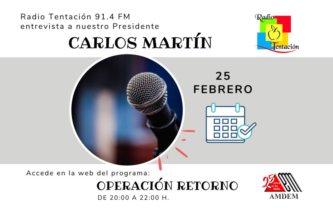 Entrevista 25/02/2021 – Radio Tentación