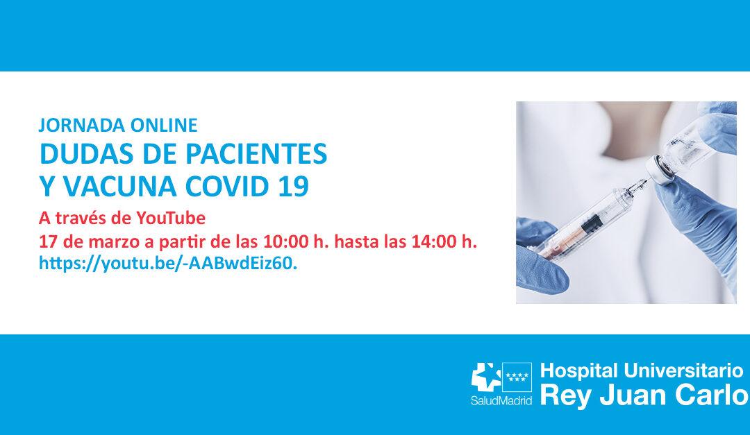 Nueva Jornada Dudas de Pacientes y Vacunas Covid-19