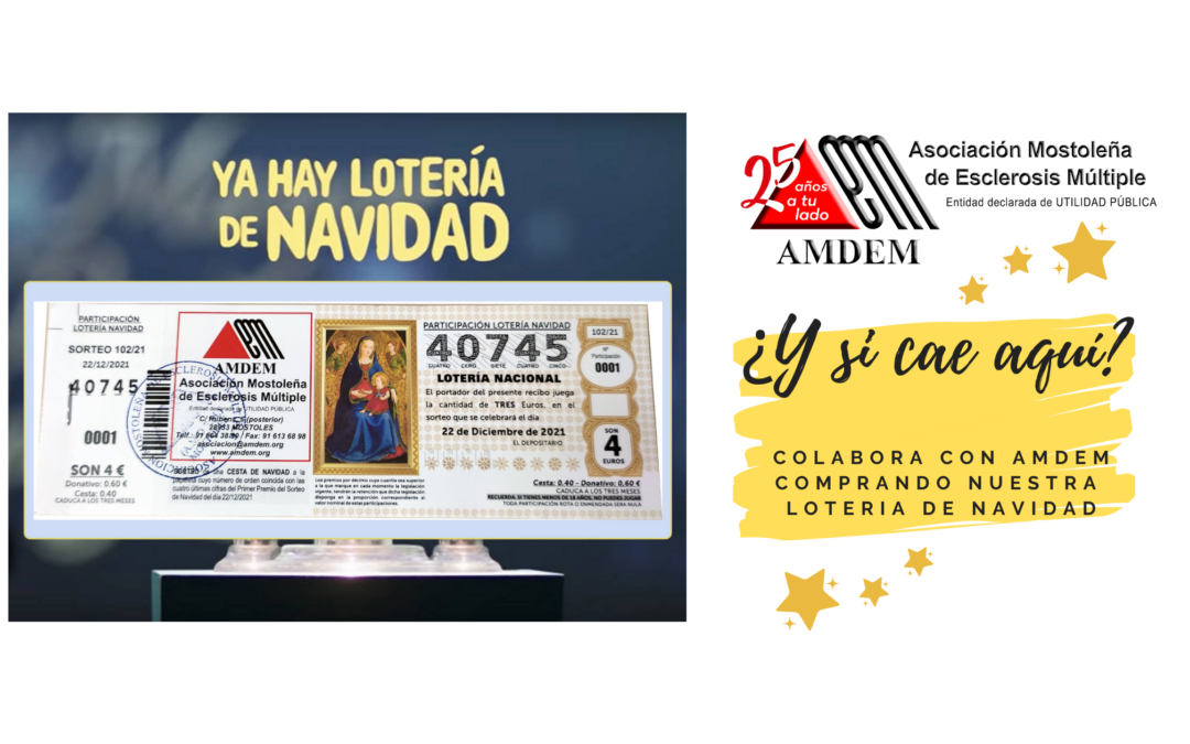 Loteria de Navidad AMDEM 2021
