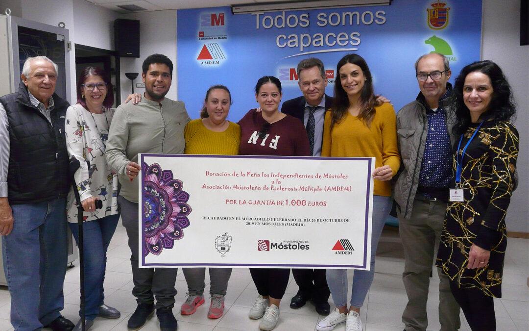 Cheque Solidario de la Peña Los Independientes