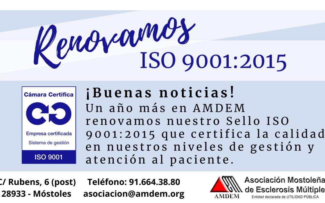 AMDEM renueva su certificado ISO 9001:2015