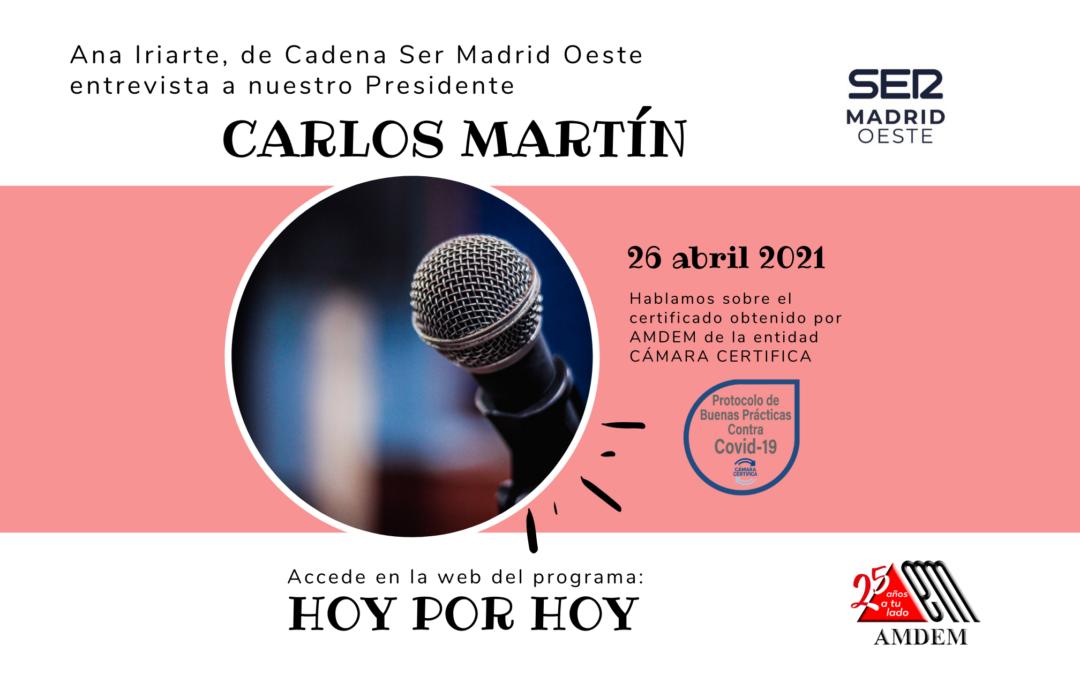 Entrevista a AMDEM en Cadena Ser – Hoy Por Hoy Madrid Suroeste